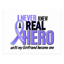 Never Knew A Hero Girlfriend Esophageal Cancer Postcard
