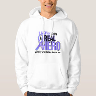 Never Knew A Hero Grandfather Esophageal Cancer Hoodie