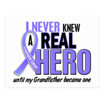Never Knew A Hero Grandfather Esophageal Cancer Postcard