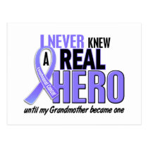 Never Knew A Hero Grandmother Esophageal Cancer Postcard