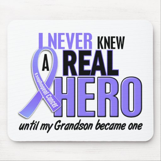 Never Knew A Hero Grandson Esophageal Cancer Mouse Pads
