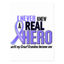 Never Knew A Hero Great Grandma Esophageal Cancer Postcard