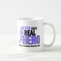 Never Knew A Hero Husband Esophageal Cancer Coffee Mug