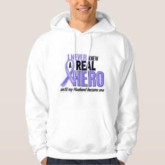 Never Knew A Hero Husband Esophageal Cancer Hoodie
