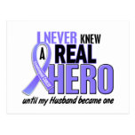 Never Knew A Hero Husband Esophageal Cancer Postcard