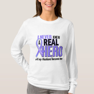 Never Knew A Hero Husband Esophageal Cancer T-Shirt