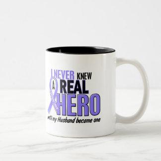 Never Knew A Hero Husband Esophageal Cancer Two-Tone Coffee Mug