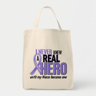Never Knew A Hero Niece Esophageal Cancer Tote Bag