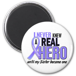 Never Knew A Hero Sister Esophageal Cancer 2 Inch Round Magnet