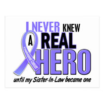 Never Knew A Hero Sister-In-Law Esophageal Cancer Postcard