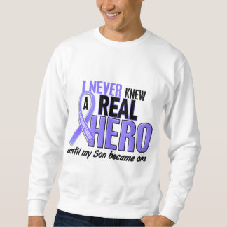 Never Knew A Hero Son Esophageal Cancer Pullover Sweatshirt