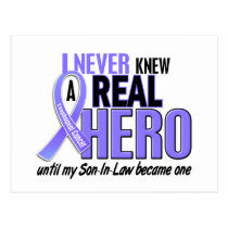 Never Knew A Hero Son-In-Law Esophageal Cancer Postcard