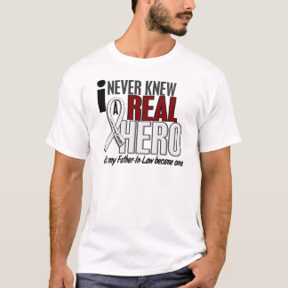 Never Knew A Real Hero 2 Father-In-Law Lung Cancer T-Shirt