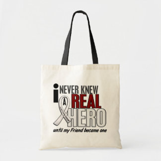 Never Knew A Real Hero 2 Friend Lung Cancer Tote Bag