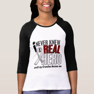 Never Knew A Real Hero 2 Grandma Lung Cancer Tee Shirts