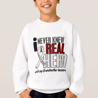 Never Knew A Real Hero 2 Grandmother Lung Cancer Sweatshirt