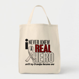 Never Knew A Real Hero 2 Grandpa Lung Cancer Tote Bag