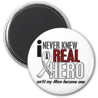 Never Knew A Real Hero 2 Mom Lung Cancer Magnet
