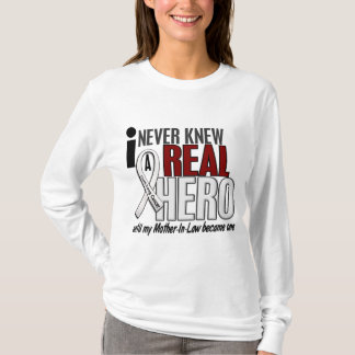 Never Knew A Real Hero 2 Mother-In-Law Lung Cancer T-Shirt