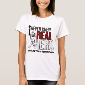 Never Knew A Real Hero 2 Nana Lung Cancer T-Shirt