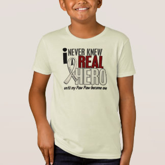 Never Knew A Real Hero 2 Paw Paw Lung Cancer T-Shirt