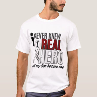 Never Knew A Real Hero 2 Son Lung Cancer T-Shirt