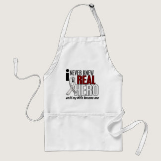 Never Knew A Real Hero 2 Wife Lung Cancer Adult Apron