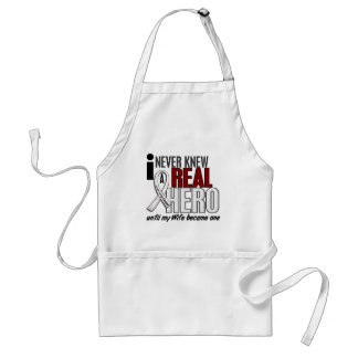 Never Knew A Real Hero 2 Wife Lung Cancer Aprons