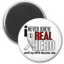 Never Knew A Real Hero 2 Wife Lung Cancer Magnet