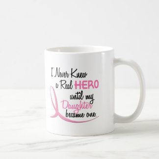 Never Knew A Real Hero 3 Daughter BREAST CANCER Mugs