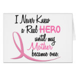 Never Knew A Real Hero 3 Mother BREAST CANCER Cards