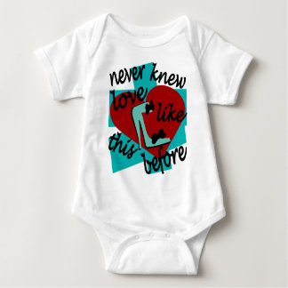 Never Knew Love Like This Before With Stiletto Baby Bodysuit