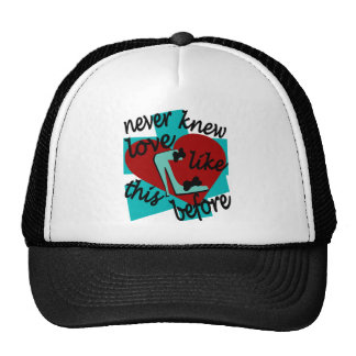 Never Knew Love Like This Before With Stiletto Trucker Hat