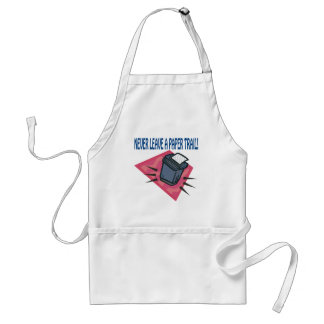 Never Leave A Paper Trail Adult Apron
