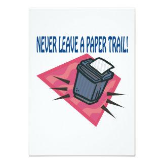Never Leave A Paper Trail Invite