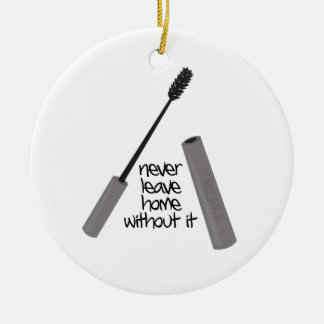 Never Leave Home Double-Sided Ceramic Round Christmas Ornament