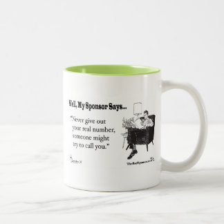 Never leave without a reciept.. Two-Tone coffee mug