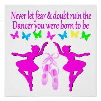 NEVER LET FEAR STOP THIS DAZZLING DANCER DESIGN POSTER