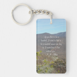 """""""Never live without you"""" keychain"""