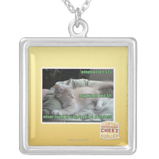 Never living in a cage again silver plated necklace