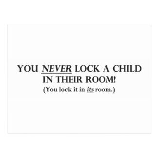 Never Lock a Child in Their Room.pdf Postcard