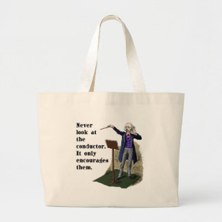 Never Look at the Conductor Tote Bags