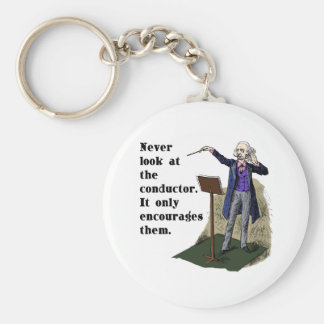 Never Look at the Conductor Keychain