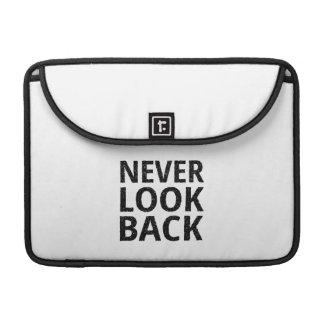 Never Look Back Inspirational Typography MacBook Pro Sleeve