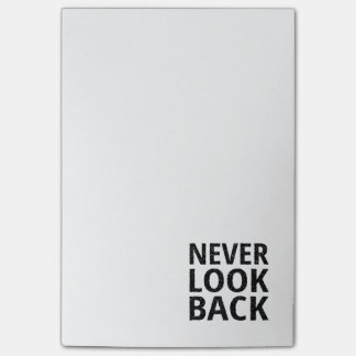 Never Look Back Inspirational Typography Post-it® Notes