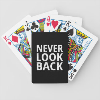 Never Look Back - Inspiring Retro Typography Bicycle Playing Cards