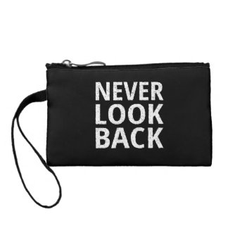 Never Look Back - Inspiring Retro Typography Change Purse