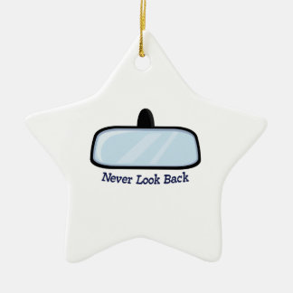 Never Look Back Double-Sided Star Ceramic Christmas Ornament
