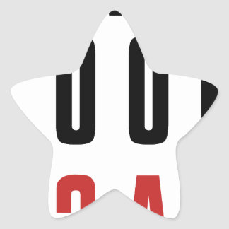 Never Look Back Star Sticker
