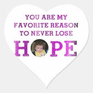 Never Lose Hope - Aubrey Heart Sticker